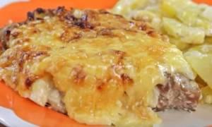 Мясо по-французски в фольге с картофелем в духовке рецепт с фото из свинины