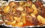 Картошка с мясом в духовке рецепт пошагово с фото