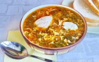 Борщ из щавеля с яйцом рецепт с фото