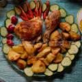 Куриные окорочка с картошкой в духовке рецепт с фото