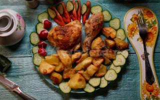 Куриные окорочка в духовке с картошкой рецепт с фото
